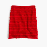 J.Crew Mini skirt in fringy lace