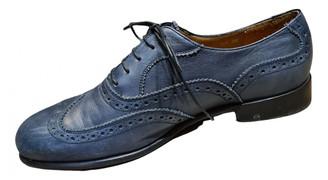 Salvatore Ferragamo Blue Leather Lace ups