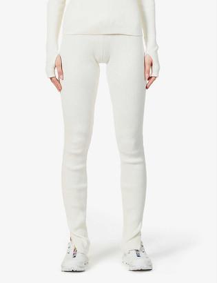 Reebok x Victoria Beckham Ribbed mid-rise stretch-knit leggings