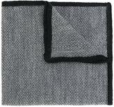 Etro contrast edge pocket square