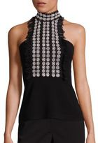 Yigal Azrouel Lace-Front Halter Top