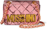 Moschino Printed Leather Shoulder Bag - Bubblegum