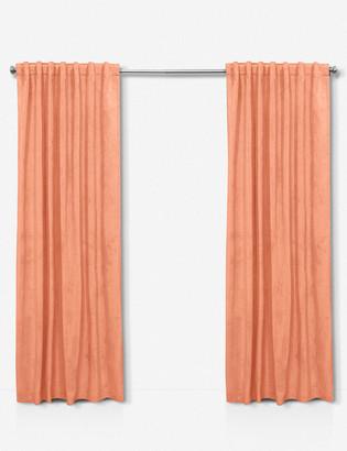 Lulu & Georgia Velvet Papaya Curtain Panel