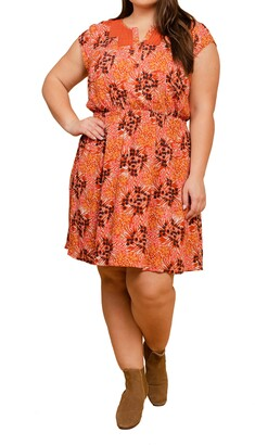 Daniel Rainn Floral Lace Inset Dress