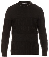 Givenchy Multi-knit Wool And Cotton-blend Sweater