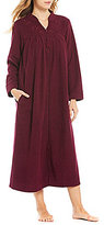 Miss Elaine Petite Embroidered Terry Tasseled Zip Robe