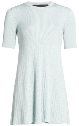 Marc Jacobs Runway Crewneck Metallic Knit Dress