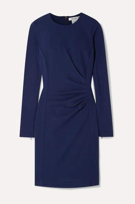 Max Mara Colimbo Ruched Wool-crepe Dress - Blue