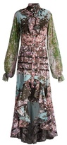 Natasha Zinko Sakura-print silk crepe de Chine dress