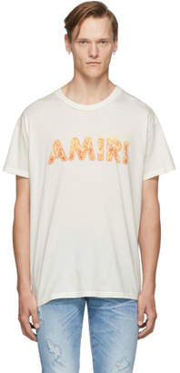 Amiri SSENSE Exclusive Off-White Flame Logo T-Shirt
