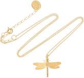 Alex Monroe 22-karat gold-plated dragonfly necklace