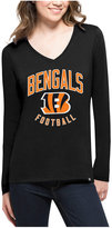 '47 Women's Cincinnati Bengals Splitter Arch Long-Sleeve T-Shirt