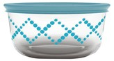 Pyrex 4-Cup Bondi Round Glass Food Storage Container Turquoise
