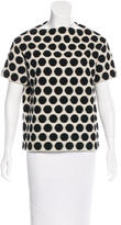 Marc Jacobs Bouclé Knit Polka-Dot Top