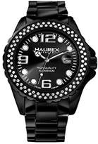 Haurex Italy Women's XK374DNN Ink Stones Black Aluminum Crustal Date Watch