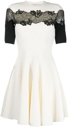 Valentino lace-panel A-line dress