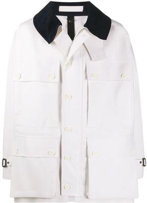 MACKINTOSH Contrast-Collar Buttoned Coat