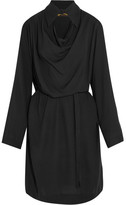 Vivienne Westwood Tondo Cutout Draped Jersey Shirt Dress - Black
