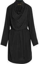 Vivienne Westwood Tondo Cutout Draped Jersey Shirt Dress - Black