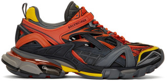 Balenciaga Orange Track.2 Open Sneakers