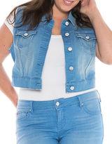 Slink Jeans Plus Denim Cropped Vest
