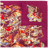 Salvatore Ferragamo shoe print scarf - women - Silk - One Size