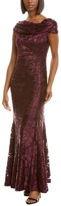 Tahari ASL Cowl Gown