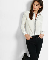 Express silk flap pocket shirt