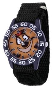 EWatchFactory Disney Lion King Pumba Boys' Black Plastic Watch 32mm
