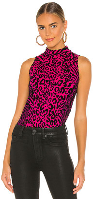 MILLY Animal Print Shell