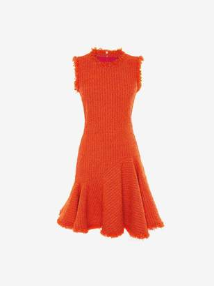 Alexander McQueen Boucle Tweed Mini Dress