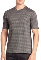 Giorgio Armani Regular Fit Tonal Printed Tee