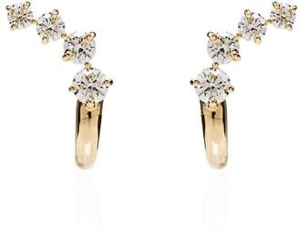 Melissa Kaye 18K gold Aria Dagger diamond earrings