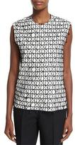 Edun Sleeveless Lace-Overlay Top, Black