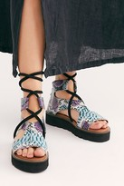 Free People Aubrey Wrap Sandals by Free People, Multi Snake, EU 38