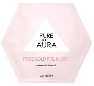 Pure Aura Rose Gold Foil Sheet Mask