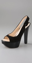 Shoes Open Toe Platform Sling Back Pumps