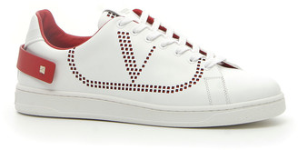 Valentino Men's Net Low-Top Leather Logo Sneakers