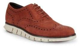 Cole Haan Zerogrand Suede Wing-Tip Oxfords