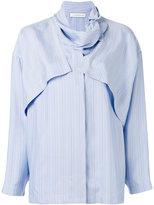 J.W.Anderson pinstripe layered shirt - women - Silk - 10