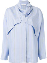 J.W.Anderson pinstripe layered shirt - women - Silk - 6