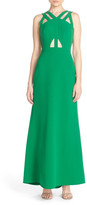 BCBGMAXAZRIA 'Deana' Cutout Crepe Gown
