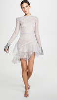 ANAÏS JOURDEN Duo Lace Mini Dress