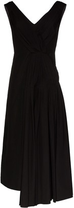Marni Pleated-Panel Maxi Dress