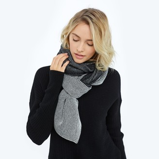 Summersalt The Coziest Cashmere Blend Ribbed Scarf - Sea Urchin & White Sand