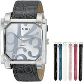 XOXO Women's XO9024 Seven Color Crocodile/Snake Interchangeable Strap Set Watch