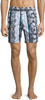 Robert Graham World Classic Fit Swim Trunks, Multi Print
