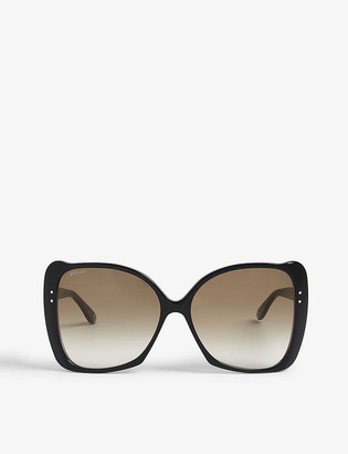Gucci GG0471 butterfly-frame sunglasses