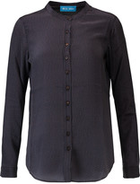 MiH Jeans Evelyn printed silk-georgette shirt