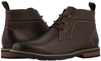 Nunn Bush Ozark Plain Toe Chukka Boot with KORE Walking Comfort Technology (Black Tumbled) Men's Lace-up Boots
